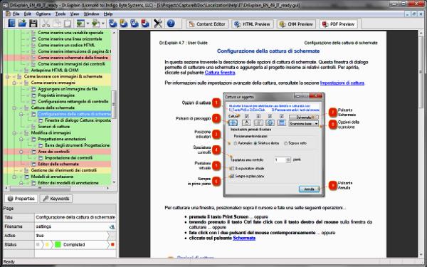 Dr.Explain è un software per creare file di aiuto, guide per l'utente, manuali online e documentazione in genere per le applicazioni dei software